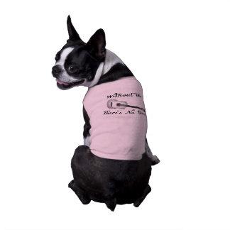 Camisetas sin mangas acanaladas del perrito de la playera sin mangas para perro