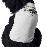 Camisetas sin mangas acanaladas del perrito de la  camisa de mascota