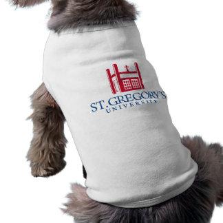 Camisetas sin mangas acanaladas del perrito camiseta de mascota