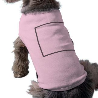 Camisetas sin mangas acanaladas del perrito camisa de mascota