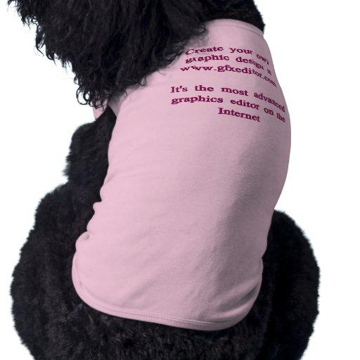 Camisetas sin mangas acanaladas del perrito, rosad playera sin mangas para perro