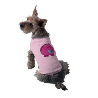 Camisetas sin mangas acanaladas del perrito rosado playera sin mangas para perro