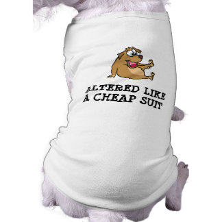Camisetas sin mangas alteradas del perrito playera sin mangas para perro