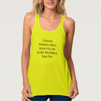 Camisetas sin mangas amarillas de neón de