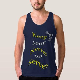 camisetas sin mangas amarillas del tenis del