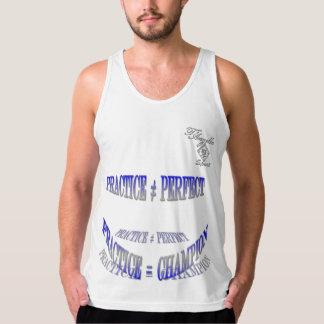 camisetas sin mangas azules de la práctica