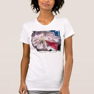 Camisetas sin mangas blancas de la floración de la