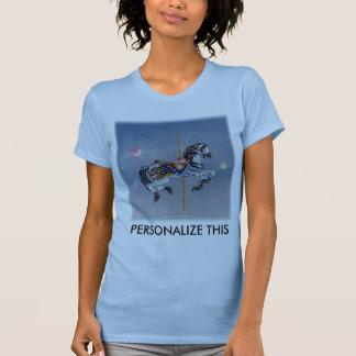 Camisetas sin mangas - caballo gris del carrusel