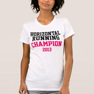 Camisetas sin mangas corrientes horizontales de