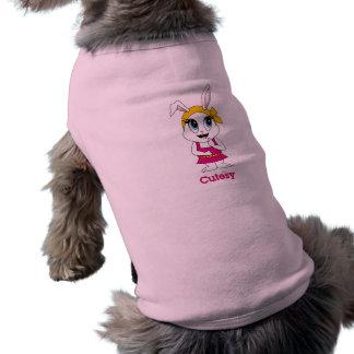 Camisetas sin mangas Cutesy del perro de Bunny™ Playera Sin Mangas Para Perro