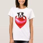Camisetas sin mangas de Boston Terrier del amor