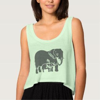 Camisetas sin mangas de la cosecha de Bella Flowy