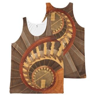 Camisetas sin mangas de la escalera espiral