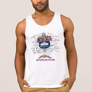 Camisetas sin mangas de la firma del conservador