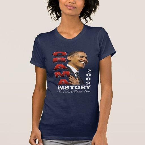 Camisetas sin mangas de la historia de Barack Obam