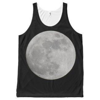 Camisetas sin mangas de la Luna Llena Playera De Tirantes Con Estampado Integral
