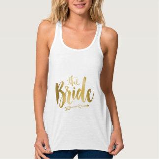 Camisetas sin mangas de la novia - oro