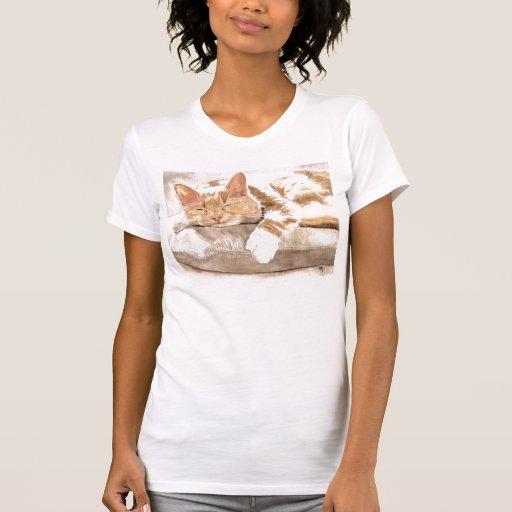 Camisetas sin mangas de la siesta del gato