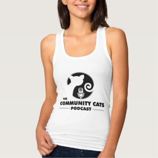 Camisetas sin mangas de los gatos de la comunidad