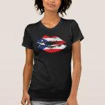 Camisetas sin mangas de los labios de Puerto Rico