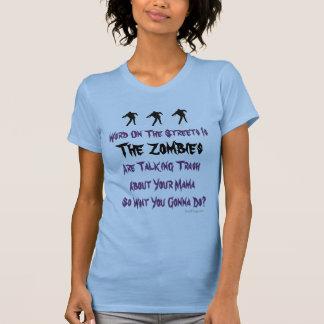 Camisetas sin mangas de los zombis de la basura