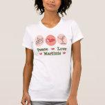 Camisetas sin mangas de Martini del amor de la paz
