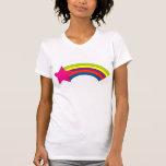 camisetas sin mangas del arco iris de la estrella
