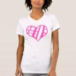 Camisetas sin mangas del corazón de la tarjeta del