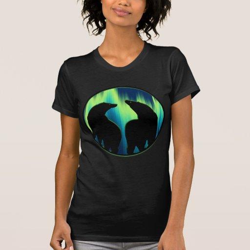 Camisetas sin mangas del oso de la aurora boreal d