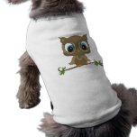 Camisetas sin mangas del perrito del búho camiseta de perro