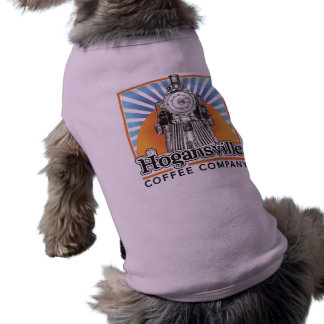 Camisetas sin mangas del perrito del rosa del logo ropa macota