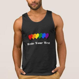Camisetas sin mangas del personalizado del orgullo