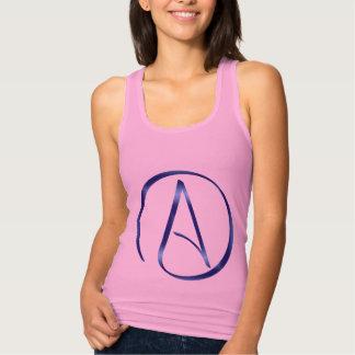 Camisetas sin mangas del símbolo del ateísmo