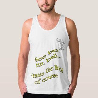 camisetas sin mangas del tenis de la bola del