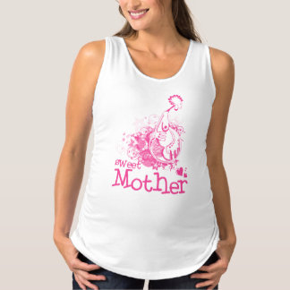 Camisetas sin mangas dulces de la maternidad de la
