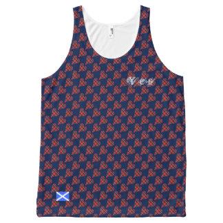 Camisetas sin mangas escocesas de la bandera del