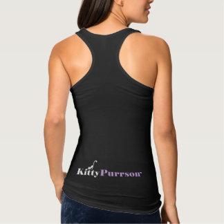 Camisetas sin mangas lindas para mujer del negro