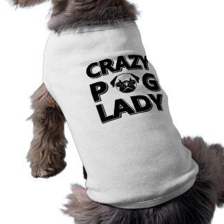 Camisetas sin mangas locas de señora Typography Playera Sin Mangas Para Perro