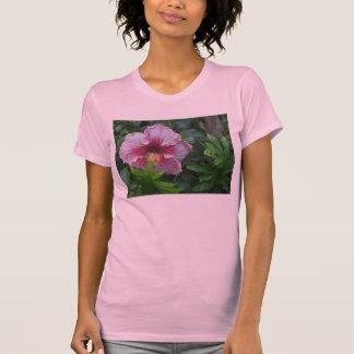 Camisetas sin mangas para mujer del hibisco rosado