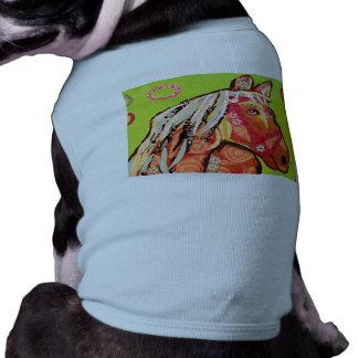 Camisetas sin mangas proveídas de costillas prenda mascota
