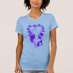 camisetas sin mangas púrpuras de las señoras del
