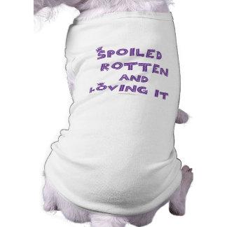 Camisetas sin mangas putrefactas estropeadas del p playera sin mangas para perro