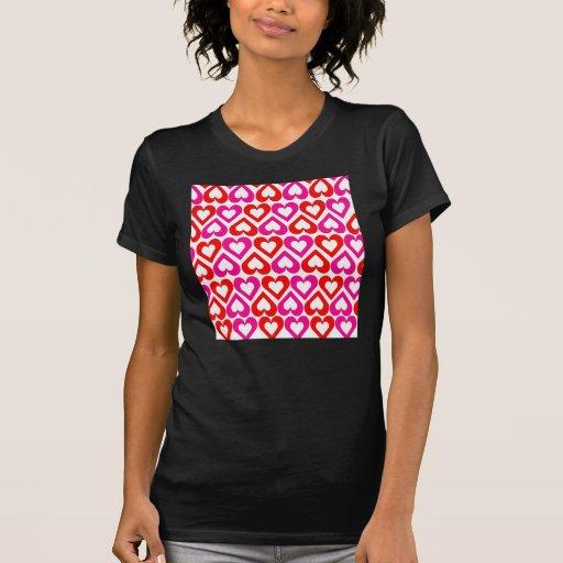 Camisetas sin mangas rosadas de los corazones