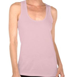 Camisetas sin mangas rosadas del razorback de la e