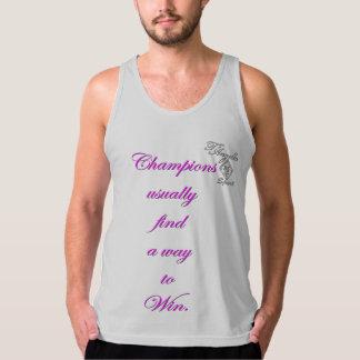 camisetas sin mangas rosadas del triunfo del