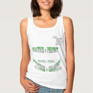 camisetas sin mangas verdes de la práctica