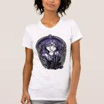 Camisetas sin mangas violetas del ángel de guarda