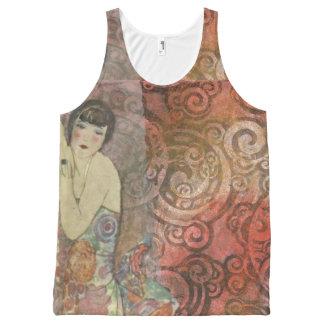 Camisetas sin mangas y camisetas del chica de BOHO