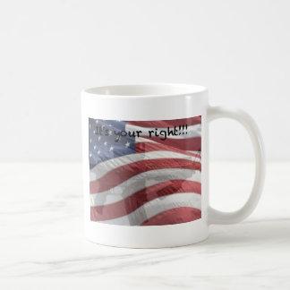 Camisetas, tazas, postales, etc. patrióticos taza de café