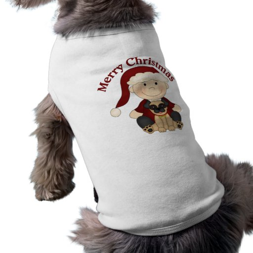 Camisetas temáticas del navidad del día de fiesta  camisetas de perrito